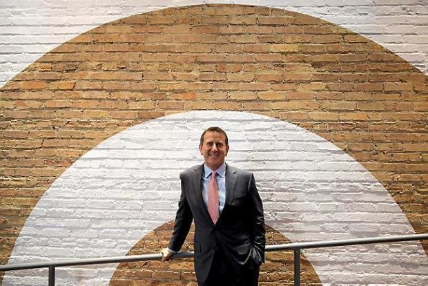 Target CEO Brian Cornell stands in the entryway of the new Streeterville Target in Chicago on Oct. 22, 2015. (Erin Hooley/Chicago Tribune/TNS)