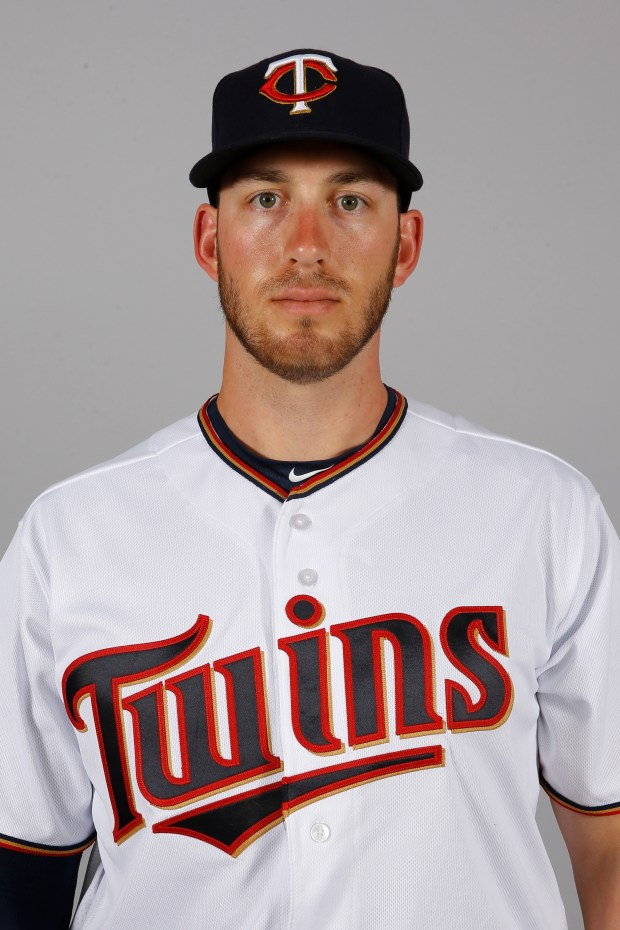 This is a 2016 photo of Mitch Garver of the Minnesota Twins baseball team. This image reflects the 2016 active roster as of March 1, 2016, when this image was taken. (AP Photo/Patrick Semansky)