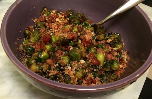 Brussels Sprouts with Pancetta for Thankgiving. (Pioneer Press: Jess Fleming)