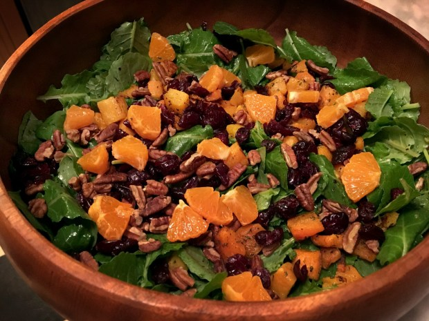 Roasted Butternut Squash Salad with Tangerine Vinaigrette offers a new twist on your Thanksgiving Day. (Pioneer Press: Jess Fleming)