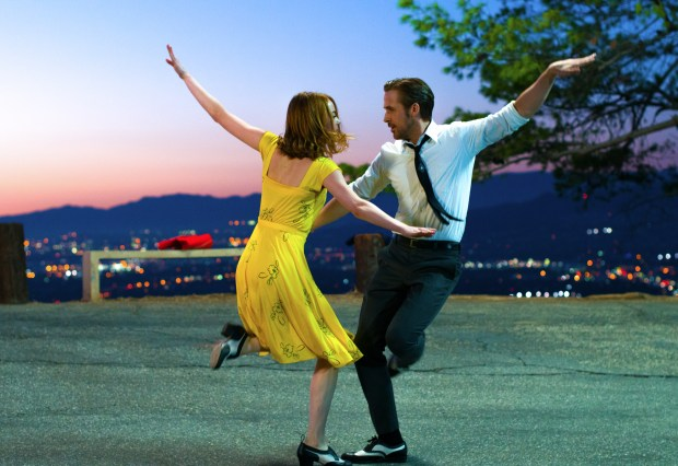 "Emma Stone and Ryan Gosling star in the Hollywood-set musical romance, ""La La Land."" (Lionsgate)"