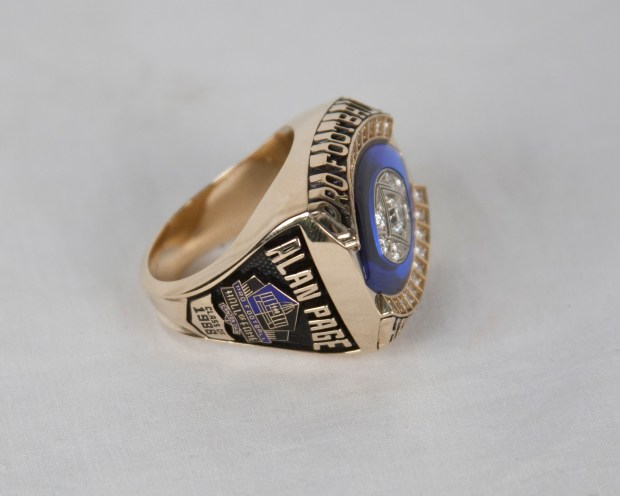 The Hall of Fame Ring of Excellence of former Minnesota Vikings defensive lineman Alan Page. (Courtesy Pro Football Hall of Fame)