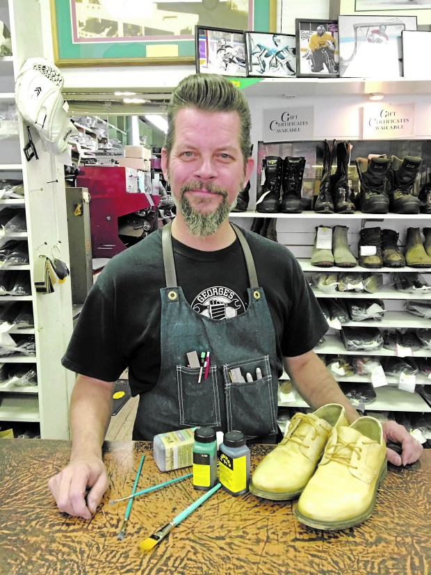 Timothy Grundhauser of St. Paul is a shoe patina artist. (Courtesy photo)