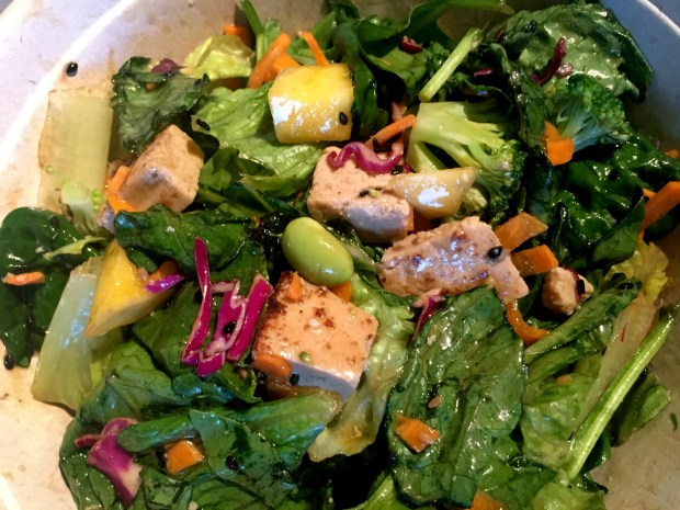The Zen Salad at Freshii at the Mall of America on October 19, 2016. (Pioneer Press: Nancy Ngo)