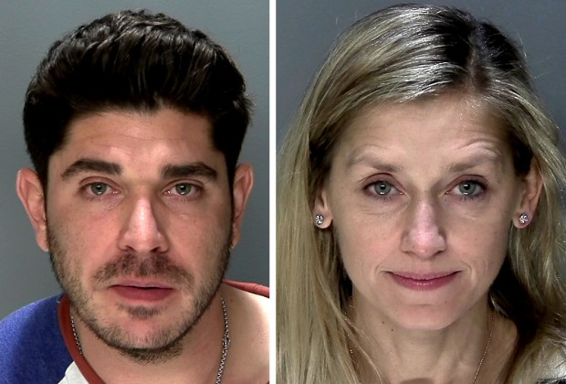 Blake Adam Fleisig of Los Angeles and Anna Christine Koosmann of Edina were ticketed Wednesday, Dec. 28, 2016, for disorderly conduct aboard a Delta Air Lines flight from Minneapolis-St. Paul International Airport to Los Angeles. (Photos courtesy Metropolitan Airports Commission)