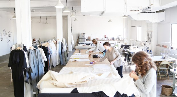A team of St. Paul seamstresses at Hackwith Design House. (Courtesy Hackwith Design House)
