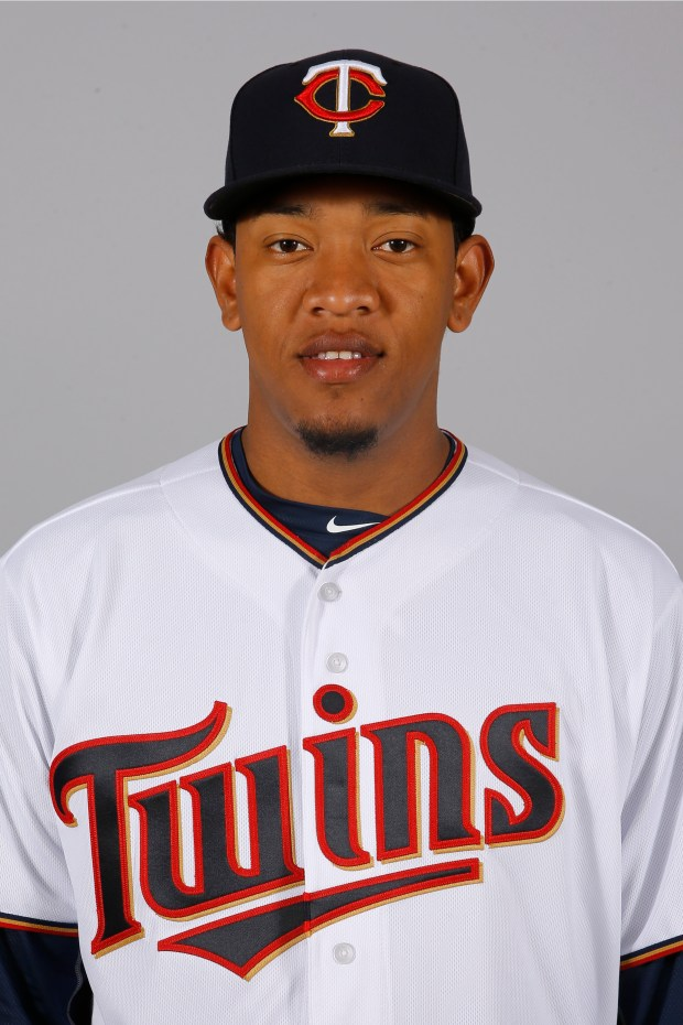 This is a 2016 photo of pitcher Yorman Landa of the Minnesota Twins baseball team. This image reflects the 2016 active roster as of March 1, 2016, when this image was taken. (AP Photo/Patrick Semansky)