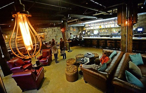 The lower bar at the Public Kitchen and Bar in St. Paul's Lowertown, Thursday, September 11, 2014. (Pioneer Press: John Autey)
