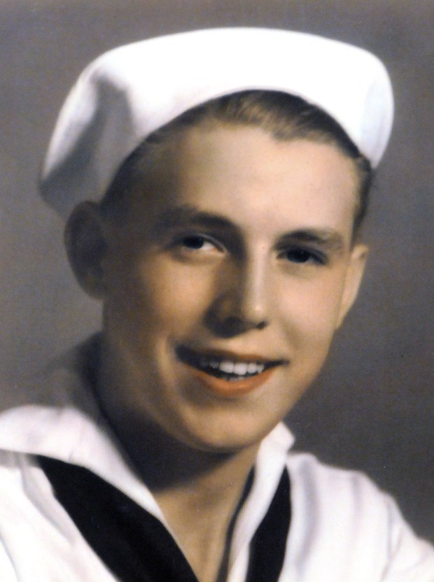 U.S. Navy ship's cook 1st class Richard Thill is shown in an undated courtesy photo, circa 1941. Thill served on the destroyer U.S.S. Ward, which was among the first ships to shoot weapons in the Pacific Theater during World War II, when it fired on a Japanese mini-sub before the Japanse attack at Pearl Harbor on Dec. 7, 1941. Because of his military service, Thill did not graduate when he was supposed to in 1942. He received his diploma from Humboldt High School in St. Paul in March 2009. (Pioneer Press File)