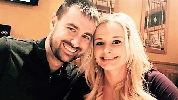 Miles Weske and his then-fiancee Brooklyn Weber enjoy a night out at Prairie Bay Grill in Baxter, Minnesota shortly before Christmas. In September, Weske was involved in a medical helicopter crash that almost cost him his life. (Contributed)