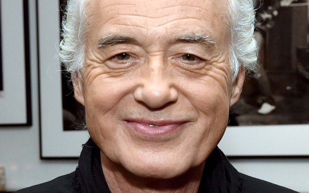 Guitar legend Jimmy Page of Led Zeppelin is 73. (Getty Images: Kevin Winter)