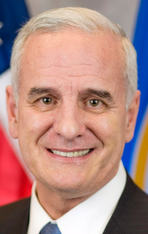 Undated courtesy photo, circa Jan. 2017, of Minnesota Gov. Mark Dayton, Minnesota's 40th Governor. This is his official portrait. Photo courtesy of the Office of Governor Mark Dayton & Lt. Governor Tina Smith.