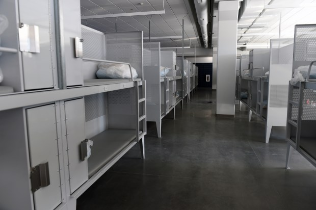 At Catholic Charities' Higher Ground St. Paul, the 172-bed men's emergency shelter on on January 12, 2017 includes lockers for storage. (Pioneer Press: Scott Takushi)