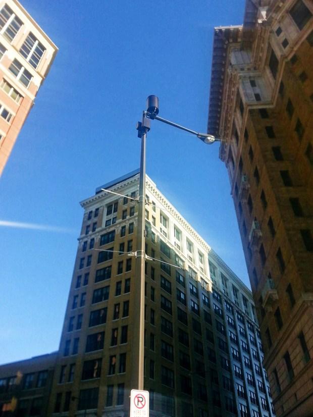 """A Verizon """"small cell"""" installation in downtown St. Paul. (Pioneer Press: Julio Ojeda-Zapata)"""