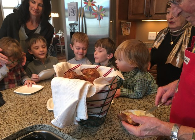 The Schneeman family gathers to make popovers in Mendota Heights. (Pioneer Press: Molly Guthrey)