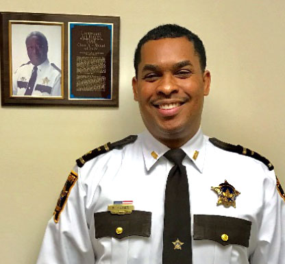Ramsey County Sheriff Jack Serier appointed Inspector Booker Hodges to Undersheriff of Administration on Feb. 13, 2017. Photo courtesy of the Ramsey County Sheriff's Office.