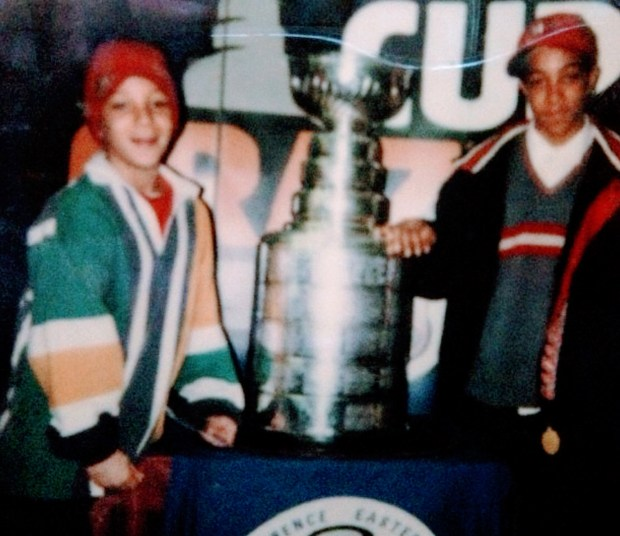 Minnesota Wild's Chris Stewart as child