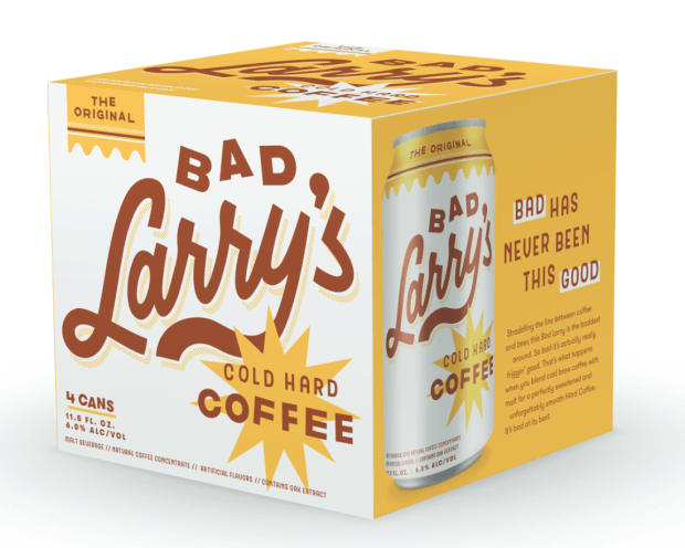 Bad Larry's alcoholic cold-brew coffee beverage will debut in May. (Courtesy Photo)