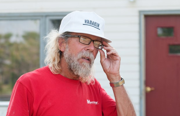 Craig Paul Cobb speaks in front of his Leith, N.D. home about his outspoken White Nationalist or white supremacist views in this tiny Grant County town in southwestern North Dakota.
