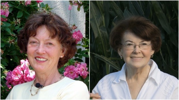 """Collage of Undated handout photos of Mary Hockenberry Meyer, left, a professor of horticultural science at the University of Minnesota, and author Susan Davis Price. They co-authored of the book """"Ten Plants that Changed Minnesota"""" with Susan Davis Price. The book was published in March 2017 by the Minnesota Historical Society Press. (Courtesy of Minnesota Historical Society Press)"""