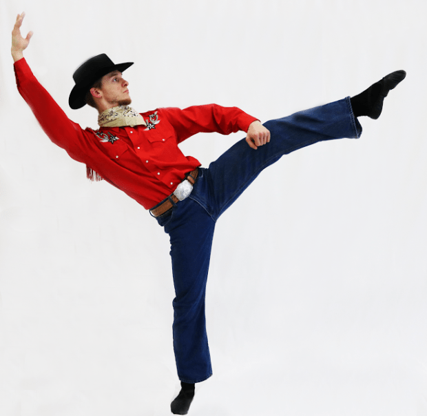 "Luke Xavier in Twin Cities Ballet's take on ""Rodeo."" (Sarah Lopez Donovan/Twin Cities Ballet)"