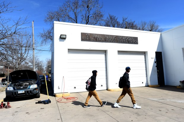 Tools were stolen over the weekend from St. Paul Public Schools Central High School Service Station in St. Paul. (Jean Pieri / Pioneer Press)