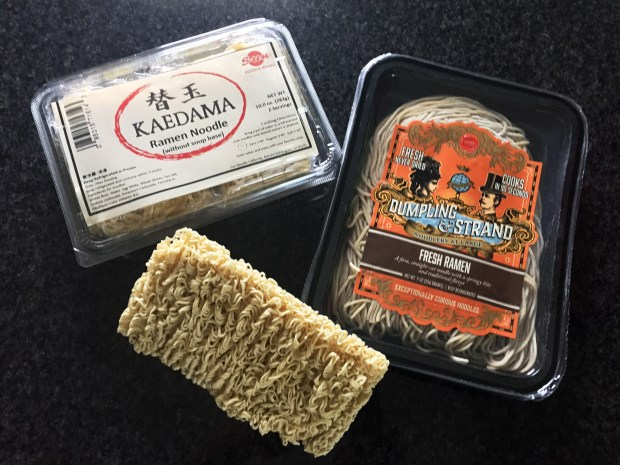 Wet and dry ramen noodles available at local markets. (Nancy Ngo / Pioneer Press)