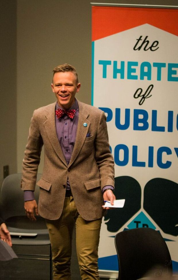 Tane Danger, hosting for Theater of Public Policy (T2P2).