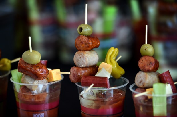 The Triple Sausage Sampler Bloody Mary made with Kramarczuk's sausages will be available at Target Field in Minneapolis this baseball season. On Thursday, March 30, 2017, the Minnesota Twins and Delaware North Sportservice, the teams exclusive food, beverage and retail partner, announced a variety of new menu offerings to be served at the ballpark during the 2016 season. Jean Pieri / Pioneer Press