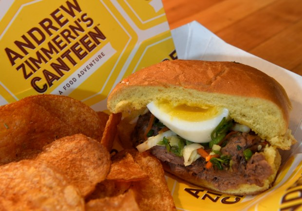 The Sloppy Ko from Andrew Zimmern's Canteen will be available at Target Field in Minneapolis this baseball season. On Thursday, March 30, 2017, the Minnesota Twins and Delaware North Sportservice, the teams exclusive food, beverage and retail partner, announced a variety of new menu offerings to be served at the ballpark during the 2016 season. Jean Pieri / Pioneer Press
