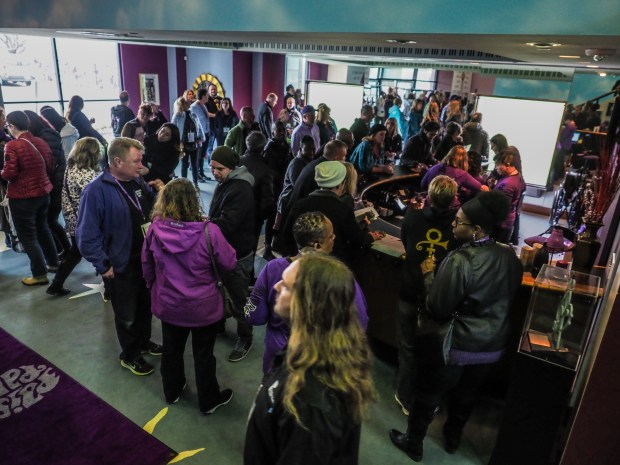 4200008 - Fans from around the world arrive for Celebration 2017 at PrinceÕs Paisley Park in Chanhassen, MN. (Courtesy of Steve Parke / Paisley Park Studios)