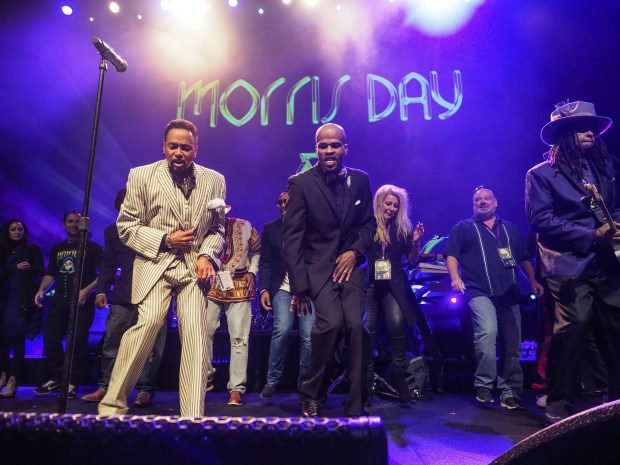 Morris Day and the Time perform at Paisley Park during Celebration 2017. (Courtesy of Steve Parke / Paisley Park Studios)
