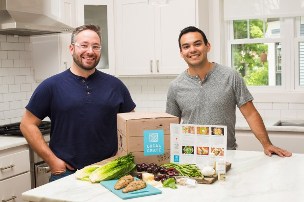 Mike Stalbaum, left, and Frank Jackman created Local Crate. (Photo courtesy James J. Hill Center)