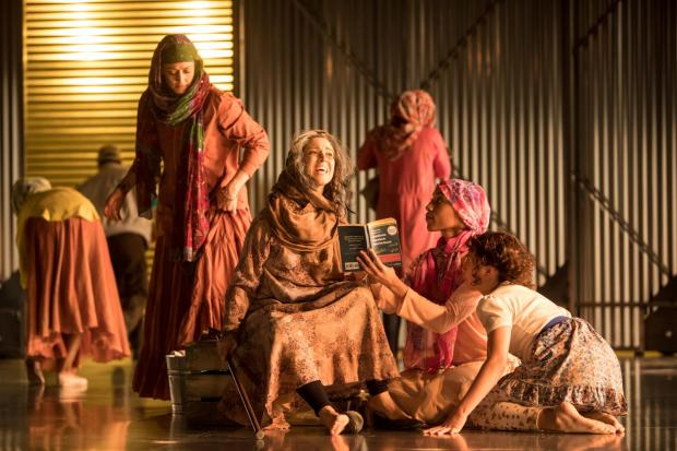 "Christina Baldwin, Rendah Heywood, Kendra Vie Boheme Dennard and Maia Hernandez in ""Refugia."" (Courtesy photo / Dan Norman / The Moving Company)"