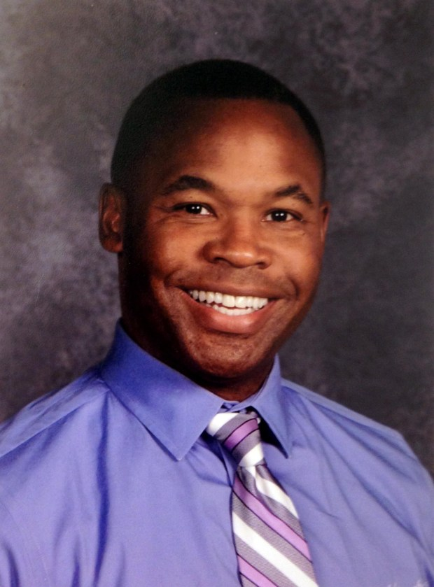 Undated courtesy photo from the 2016-17 school year of Aaron Benner. Benner, a former teacher, is suing St. Paul Public Schools for racial discrimination, claiming he was punished for criticizing the district's racial-equity policy. He is now teaching at another school. (Courtesy of Aaron Benner)