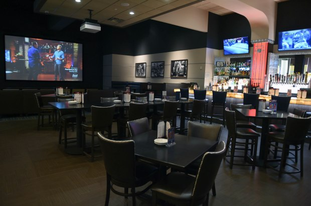 Luxury cinemas like the Marcus Oakdale Cinema serve food to moviegoers in their Bistro Lounges, and have higher-end amenities like this Take 5 Lounge, photogrpahed on June 1, 2017. (Scott Takushi Pioneer Press)