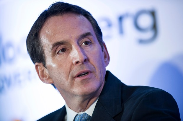 Former Minnesota Governor Tim Pawlenty, president and CEO of Financial Services Roundtable, speaks during a discussion at the Reagan Building on Oct. 30, 2013, in Washington, DC. (Brendan SMIALOWSKI /AFP/Getty Images)