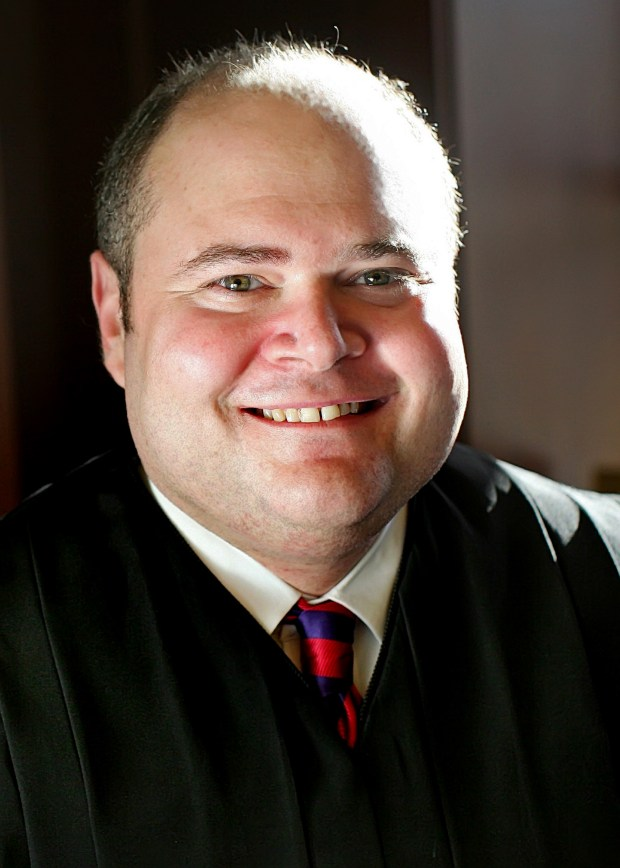 Undated courtesy photo, circa 2011, of Justice David Stras, a candidate for re-election to the Minnesota Supreme Court. President Donald Trump plans to nominate a Stras, a Minnesota Supreme Court justice to a St. Louis-based federal appeals court. Numerous Washington journalists report that David Stras is due to get the Trump nod Monday, May 8, 2017 for the Eighth Circuit Court , which hears cases for Minnesota, North Dakota, South Dakota, Missouri, Nebraska, Iowa and Arkansas. (Forum News Service)