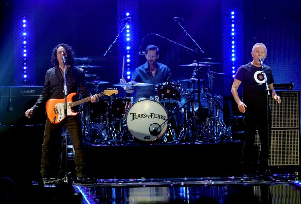 LAS VEGAS, NV - SEPTEMBER 24:  Music group Tears for Fears perform onstage at the 2016 iHeartRadio Music Festival at T-Mobile Arena on September 24, 2016 in Las Vegas, Nevada.  (Photo by Kevin Winter/Getty Images)