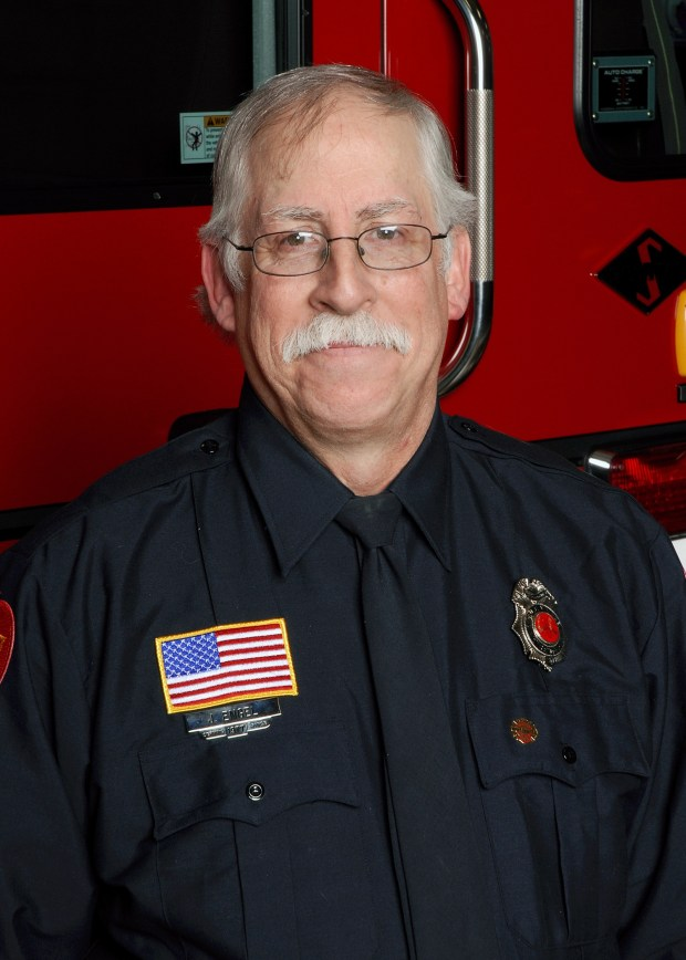 Apple Valley volunteer/paid-on-call firefighter Joel Engel will retire Friday, June 30, 2017, after 40 years with the fire department. (Courtesy of Apple Valley Fire Department)