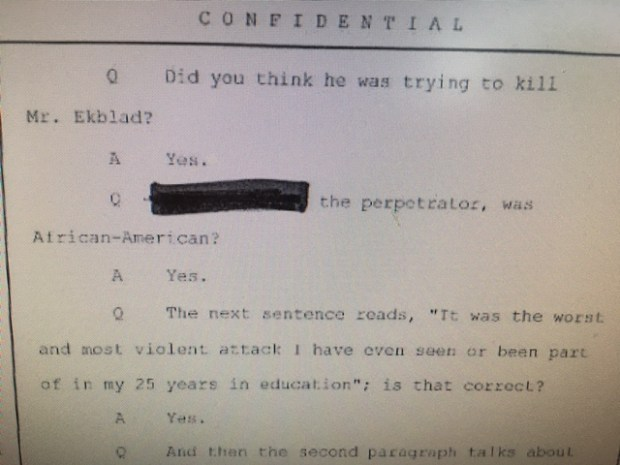 In a 2016 deposition for Central High School teacher John Ekblad's lawsuit, assistant principal Mark Krois said he thought the 16-year-old student was trying to kill Ekblad.