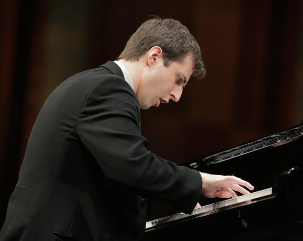 Minneapolis native Kenneth Broberg performs June 5 in the semifinal round of the Van Cliburn International Piano Competition held at Bass Performance Hall in Fort Worth, Texas. (Photo Ralph Lauer / Van Cliburn International Piano Competition)