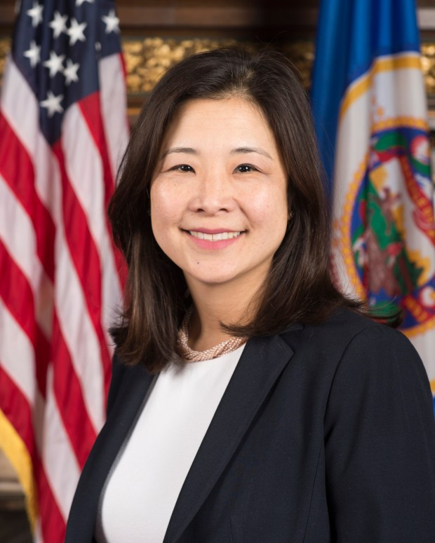 Undated courtesy photo, circa June 2017. On June 27, 2017, Gov. Mark Dayton announced that he has appointed Alene Tchourumoff to serve as Chair of the Metropolitan Council. Tchourumoff currently serves as Minnesota's State Rail Director, and brings a decade of experience in infrastructure planning, transportation policy, and finance to her new role. (Courtesy of Office of Governor Mark Dayton)