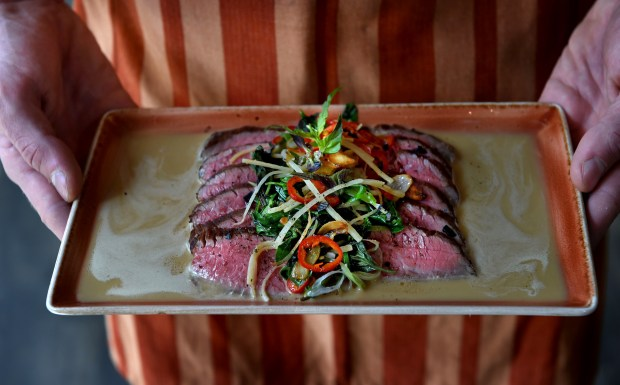 The Singapore Broil at the Gray Duck Tavern in St. Paul on Friday, August 4, 2017. (Jean Pieri / Pioneer Press)