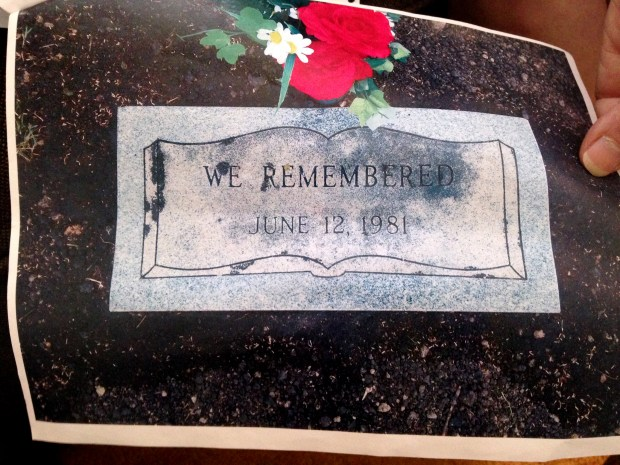 Cook County sheriff's investigators gave James Haakenson's family this photo of his headstone when they notified them on Monday, July 17, 2017, that the 16-year-old had been a victim of serial killer John Wayne Gacy. Haakenson, 16, was missing from St. Paul since 1976. Through DNA, he was found to be one of Gacy's unidentified victims. A funeral home buried him and put this headstone on his grave. His remains were among those of more than two dozen young men found in the crawl space of Gacy's Chicago-area home in 1978. (Courtesy of James Haakenson family)