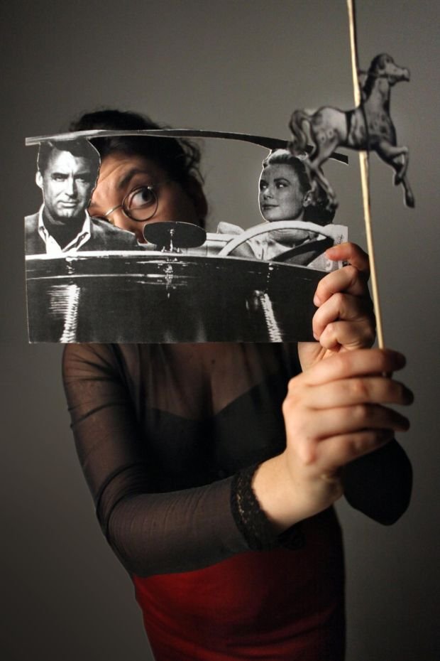 "A lonely secretary dreams of stardom in ""Papercuts"" at the National Puppetry Festival in St. Paul. (Yael Rasooly)"