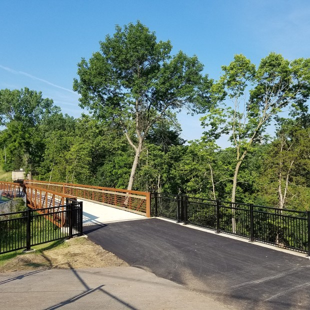 A new stretch of trail in Hastings includes a 140-foot long steel truss bridge. (Courtesy of City of Hastings)