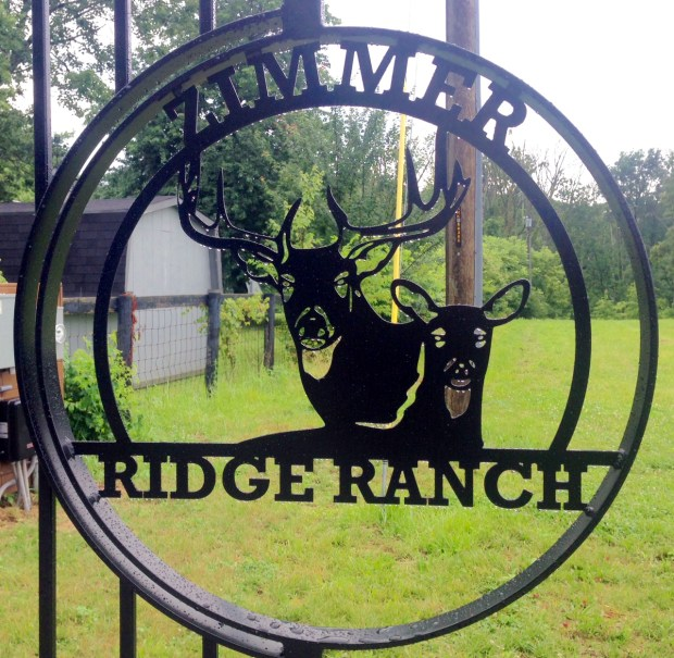The exterior gate to Minnesota Vikings head coach Mike Zimmer's 176-acre property in Walton, Ky., on July 11, 2017. (Brian Murphy / Pioneer Press)