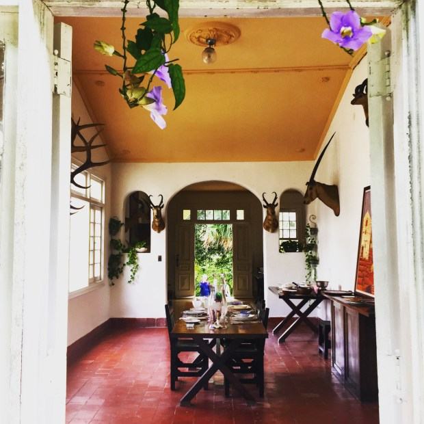 The view into Ernest Hemingway's dining room at Finca la Vigia set in the highlands overlooking Havana in April 2017. The famous American author lived here from 1939 to 1960. (Courtesy of Jackie Gaston)