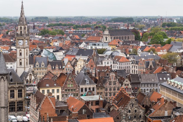 A view of Ghent, Belgium, from the city's belfry tower on May 8, 2017. (Andy Rathbun / Pioneer Press)